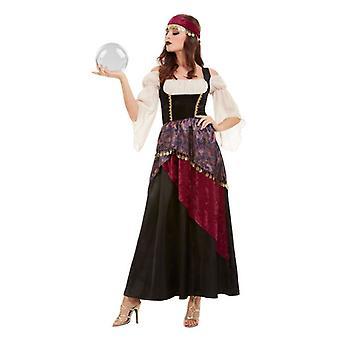 Naisten aikuisten Fortune Teller Gypsy fancy mekko puku