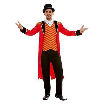 Männer Adults Circus Ringmaster Fancy Dress Kostüm