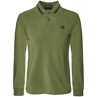 Fred Perry Long Sleeve Twin Tipped Polo Shirt M3636 H94