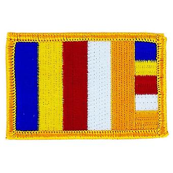 Patch Patch Brode Buddhist Flag Buddhism Thermocollant Insignia Blason