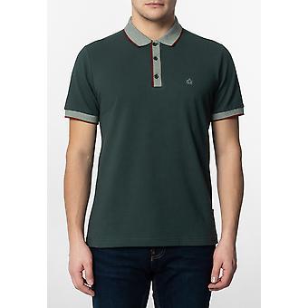 Merc RUPERT, heren ' effen katoenen polo shirt met kraag en mouw contrast Details