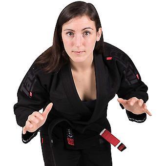تاتامي ملابس القتال المرأة & s Estilo 6.0 قسط BJJ Gi - أسود / أسود