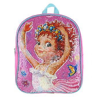 Small Backpack - Fancy Nancy - Reverse Sequin Pink 12