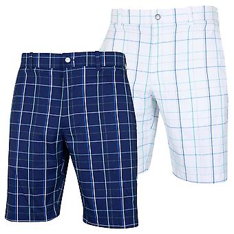 Callaway Mens Large Fashion Plaid Golf Active Stretch Shorts