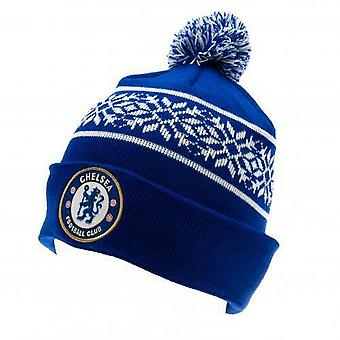 Chelsea FC Unisex volwassenen gebreide Snowflake hoed