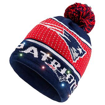LED Winter Hat Bommel Beanie New England Patriots