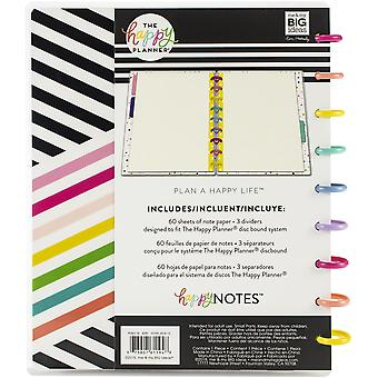 Happy Planner Medium Notebook W/60 Sheets-Live Colorfully, Graph