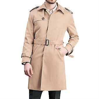 Allthemen Men ' s solid Lapel casual mijlocul lungimii vant haina Slim-Fit singur-Breasted de praf haina de iarnă outwear cald overcoat Plus Dimensiune