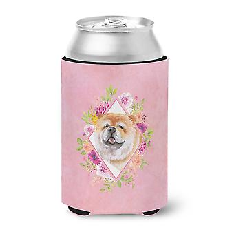 Carolines Treasures  CK4132CC Chow Chow #2 Pink Flowers Can or Bottle Hugger