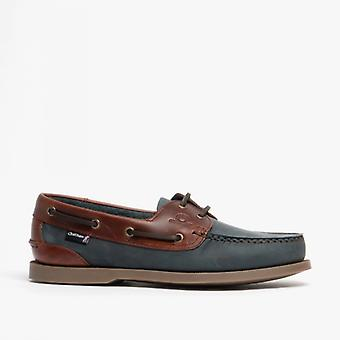 Chatham Bermuda G2 Mens Nubuck Leather Boat Shoes Navy
