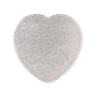 """Culpitt 11 """"(279mm) Cake Board Heart silver Fern-singel"""