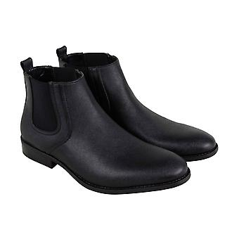 Unlisted by Kenneth Cole Half N Half  Mens Black Chelsea Boots Shoes