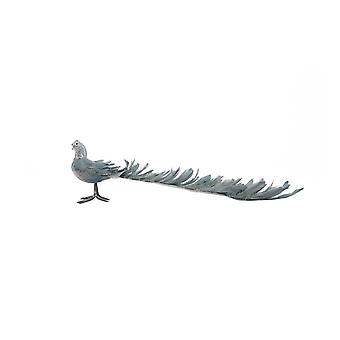Light & Living Ornament 50x16cm Peacock Grey Blue