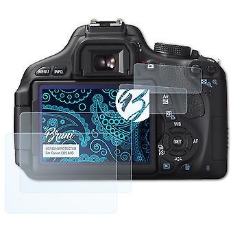Bruni 2x näytönsuoja yhteensopiva Canon EOS 60D suojakalvo