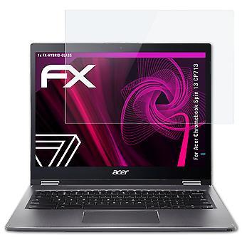 atFoliX 2x Ekran Koruma Filmi Acer Chromebook Spin 13 CP713 mat ve darbeye dayanıklı uyumlu