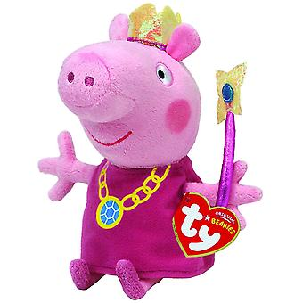 Ty-Peppa Pig princesse 6 pouces Beanie Toy