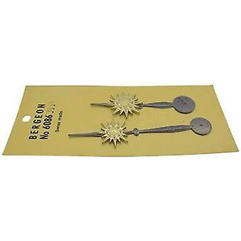 Clock hands 80mm black/brass, bergeon 6086 n11