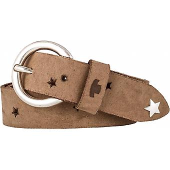 Cute Taupe Children's Belt With Playful Buckle
