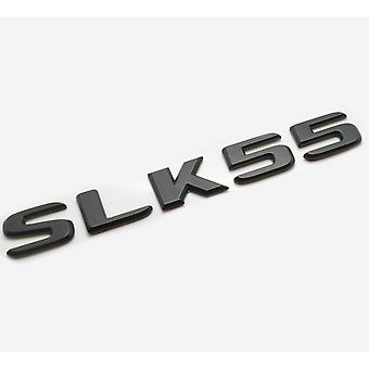 Matt Black SLK55 Flat Mercedes Benz Car Model Rear Boot Number Letter Sticker Decal Badge Emblem For SLK Class AMG R170 R171 R172