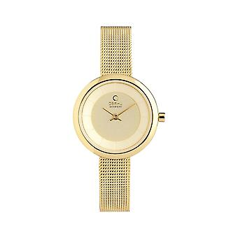 Obaku Stille Gold Women's Wristwatch V146LXGGMG