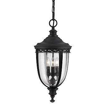 English Bridle 3lt Large Chain Lantern Black
