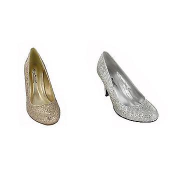 Anne Michelle Womens/Ladies Metallic Snake Skin Pattern High Heels
