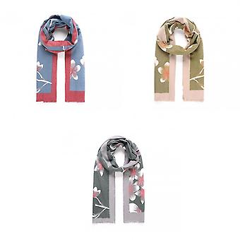 Intrigue Womens/Ladies Blossom Print Brushed Warm Scarf