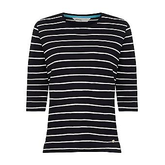 PENNY PLAIN Navy Striped Top