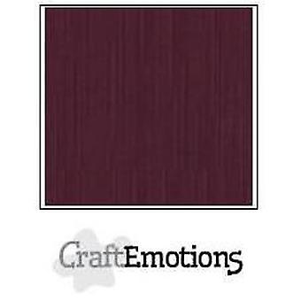 CraftEmotions linnen karton 10 Sh bordeaux LHC-67 A4 250gr