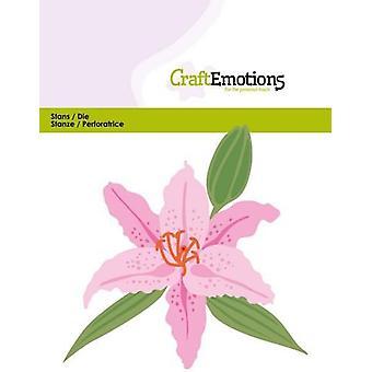CraftEmotions Die - Lily 3D-kaart 11x9cm