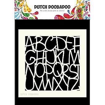 Niederländische Doobadoo niederländische Maske Kunst 15x15cm Alphabet 470.715.607 15x15cm
