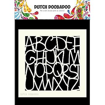 Dutch Doobadoo Dutch Mask Art 15x15cm Alphabet 470.715.607 15x15cm