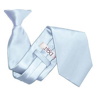 Baby blå ren sateng klippet på slips