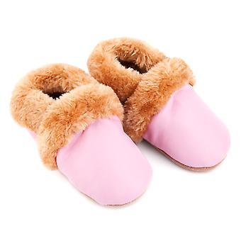SKEANIE Pre-walker Leather SNUG Shoes in Pink