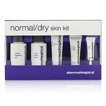 Dermalogica-normaali / kuiva iho Kit: puhdistusaineet, väriaineen + tasoitus kerma + kuorii + silmän Reapir - 5kpl