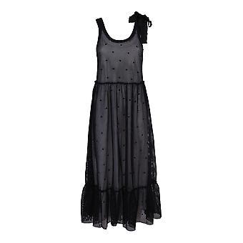 Red Valentino Tr0mj03q54c0no Women's Black Nylon Dress