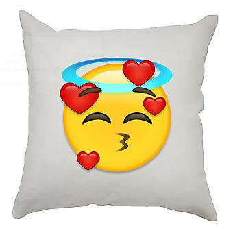 Emoji Cushion Cover 40cm x 40cm Angel Heart