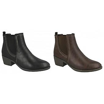 Das mulheres/senhoras Twin Gusset Ankle Boots local