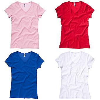 Bella + Canvas Womens/Ladies Baby Rib Short Sleeve V-Neck T-Shirt