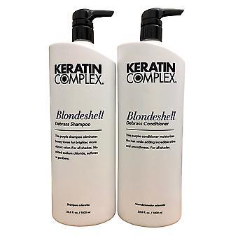 Keratin Complex Blondeshell Debrass Shampoo & Conditioner 33.8 oz Duo
