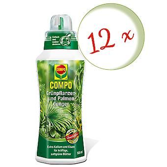 Sparset: 12 x COMPO green plant and palm fertilizer, 500 ml