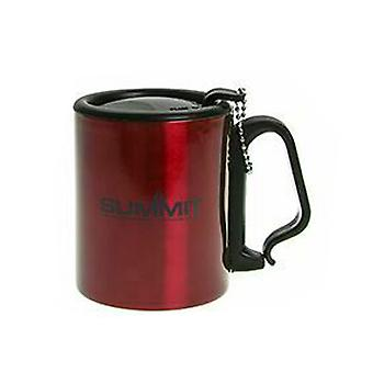 Summit Geïsoleerde Mok met Carabiner Handle Travel met Lid Outdoor Camping - 1 Unit Red Mug
