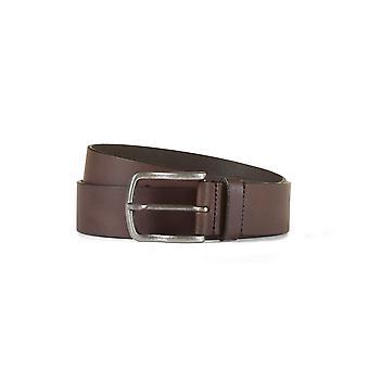 Leather belt davis dark brown