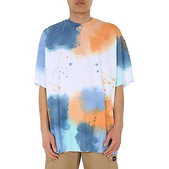 Msgm 2840mm10320708802 Männer's Multicolor Baumwoll-T-shirt