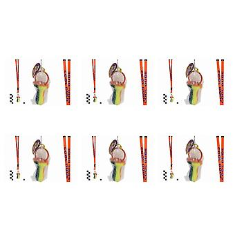 Pack Of 6 Rock Dummies With Cool Dude Lanyards