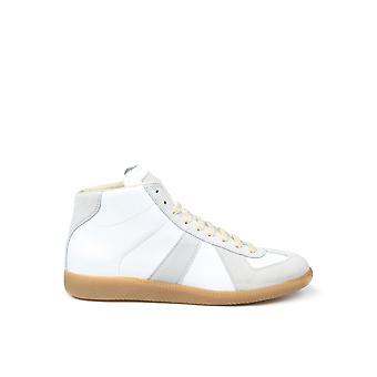 Maison Margiela S57ws0237p1895101 Men's White Leather Hi Top Sneakers