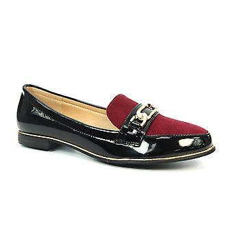 Loafer de brevet de velours lunaire