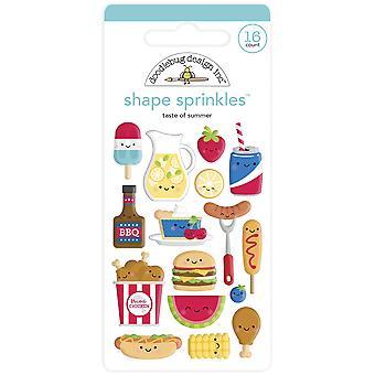 Doodlebug Design Taste of Summer Shape Sprinkles (16pcs) (6882)