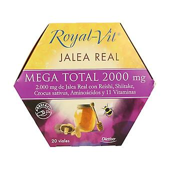 Royal Vit Mega Total Royal Jelly 20 ampoules of 2000mg