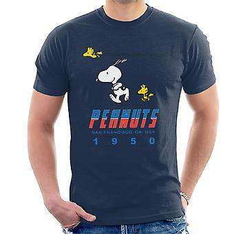 Jordnötter Snoopy Woodstock 1950-talet San Francisco Men & Apos; s T-shirt